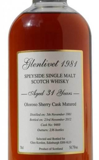 Glenlivet Glen Kerdon 1981